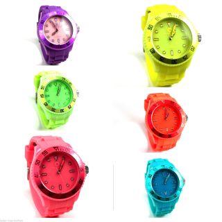 Kraftworxs Sparks Unisex Armbanduhr Gelb Blau Grün Pink Lila Orange Weiß Uhr Bild