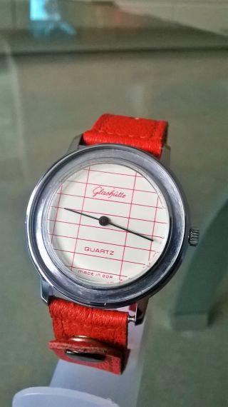 Sehr SchÖne Modische GlashÜtte Armbanduhr In Seltener AusfÜhrung 35mm Bild