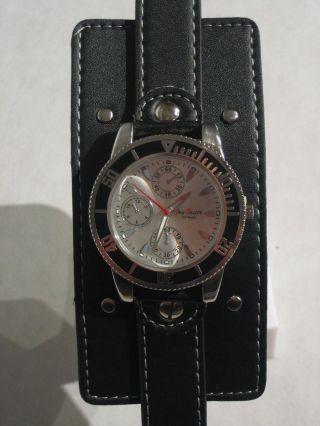 Jay Baxter - Xl Herren Uhr Armbanduhr Echt Lederarmband Unterleger Leder - A0876 Bild