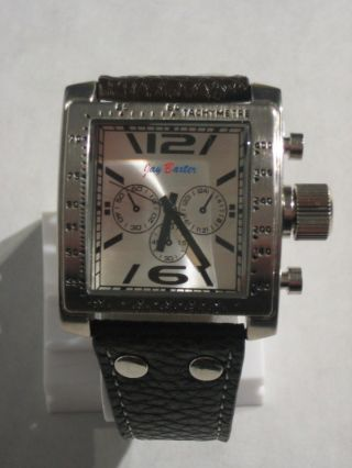 Jay Baxter - Xl Herren Uhr Armbanduhr Echt Lederarmband Schwarz Analog - A1071 Bild