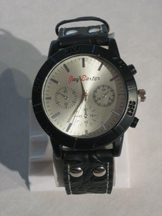 Jay Baxter - Xl Herren Uhr Armbanduhr Echt Lederarmband Schwarz Analog - A1932 Bild