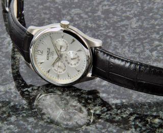 Kienzle Klassik Herrenuhr Quartz Edelstahl Uhr Mit Leder Band Datum V71091337390 Bild