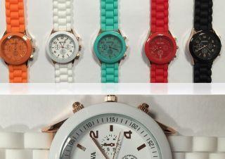 Silikon Uhr Armbanduhr Watch Damen Herren Quarz Uhren Farbwahl Modellwahl Bild