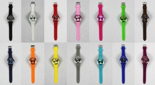 Silikon Uhr Armbanduhr Watch Damen Herren Quarz Farbe Wählbar ♦♦♦ & Ovp ♦♦♦ Bild