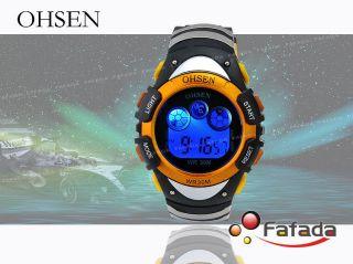 Ohsen 7 Farbe Beleuchtung Armbanduhr Herrenuhr Damenuhr Bild