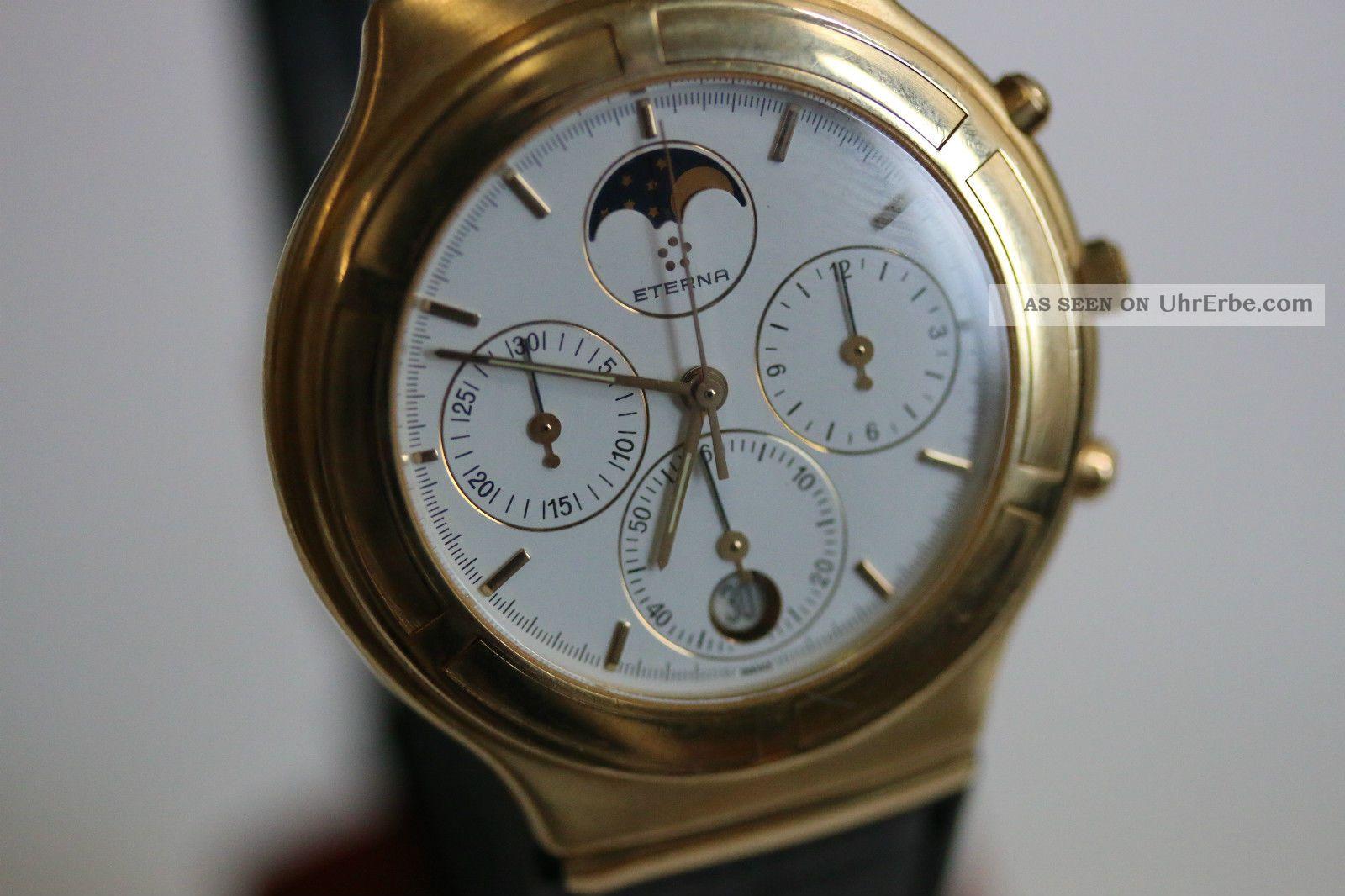 Eterna Airforce,  Herrenmodell,  Gelbgold,  Chronograph,  Mondphase Avs2704 Dif Rwt1 Armbanduhren Bild