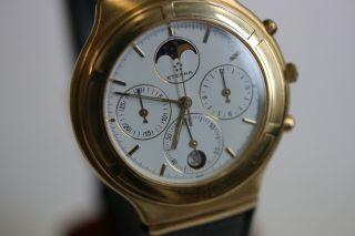 Eterna Airforce,  Herrenmodell,  Gelbgold,  Chronograph,  Mondphase Avs2704 Dif Rwt1 Bild