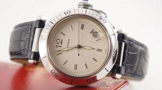 Cartier Pasha Automatik Uhr Ovp Inkl.  Box Papiere Bild
