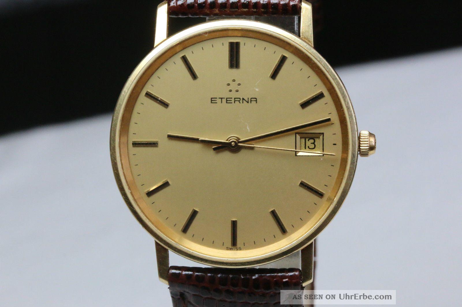 Eterna Armbanduhr 18k,  Ohne Box,  750gg Avs2743 Dif Rwt1 Armbanduhren Bild