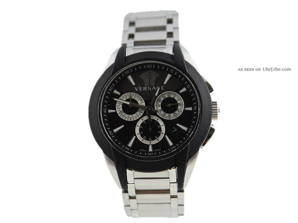 Versace Herrenuhr,  Chronograph,  M8c99d008 S099,  Edelstahl,  Quarz Armbanduhren Bild