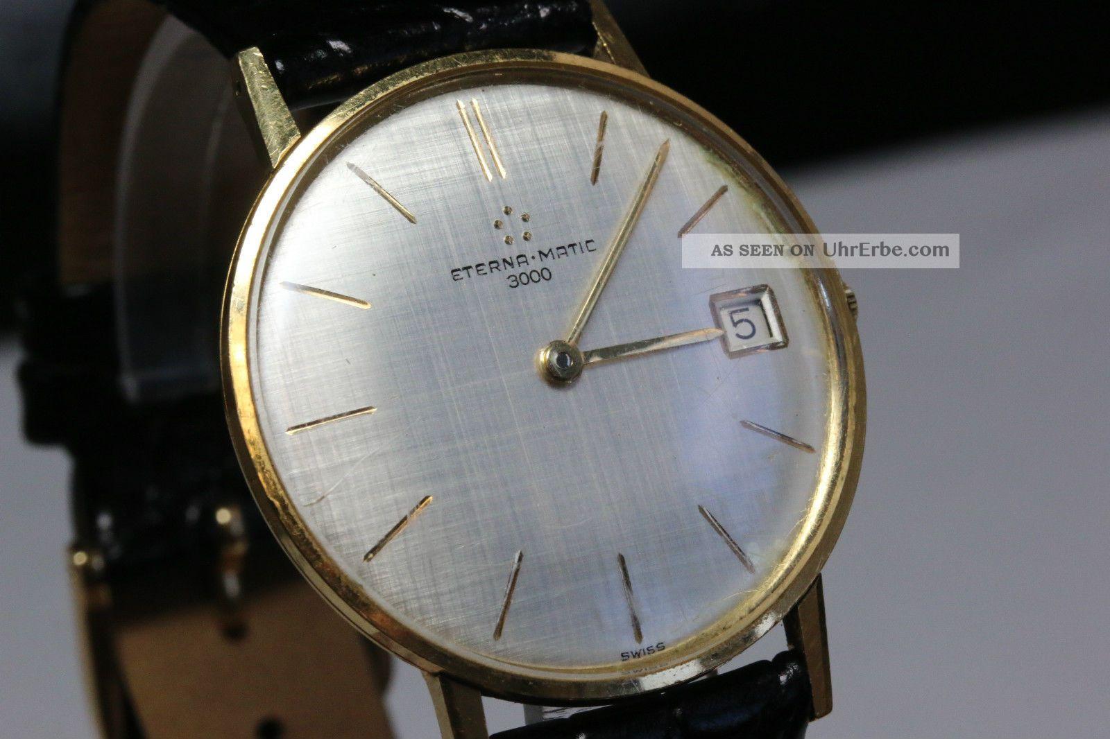 Eterna - Matic 3000 Gold,  Automatikwerk,  Inkl.  Box Und Papiere Avs2722 Dif Rwt1 Armbanduhren Bild