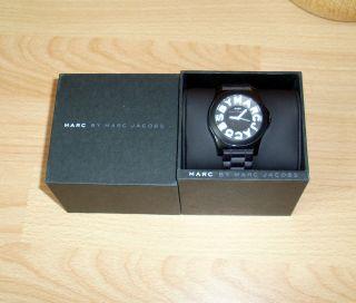 Marc By Marc Jacobs Unisex Uhr Kautschuk Armband Schwarz/weiß Bild