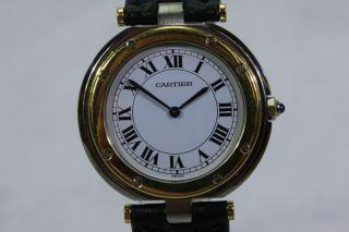 Cartier Santos Ronde,  Quartzwerk,  Ohne Box,  Stahlgold 18k Avs2744 Dif Rwt1 Bild