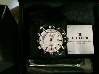 Edox Class 1 Daydate Automatik Titanium 500m Taucheruhr Bild