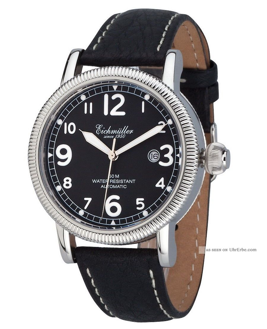 EichmÜller Automatikuhr 7930 - 01 Herrenuhr Business Edelstahl Watch Analog Armbanduhren Bild