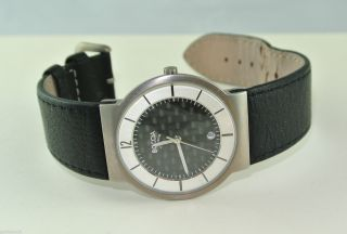 Boccia Titanium Herren - Armbanduhr / Quarz / Titan M Lederarmband Bild