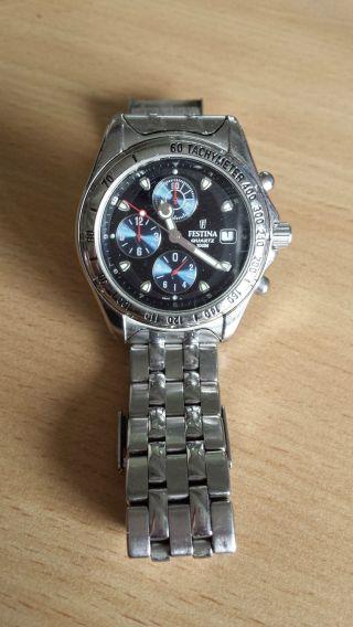 Festina Uhr Herrenuhr Registered Model Chronograph Tachymeter Luxus Bild