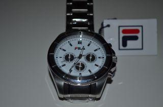 Fila Fa4125 - 17 Herren - Armbanduhr Chronograph Analog Quarz Edelstahl Bild