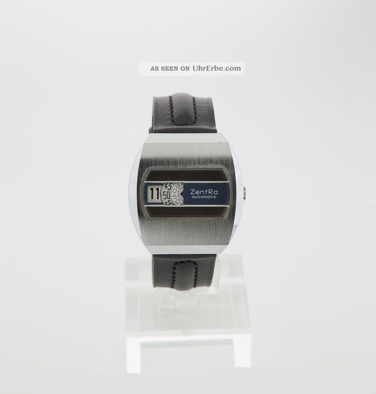 Zentra Digital Automatic Vintage Herrenuhr Von Ca.  1970 Armbanduhren Bild