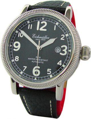 Eichmüller Automatik Edelstahl Armband Uhr Mit Classic Design Pilot Watch Strap Bild