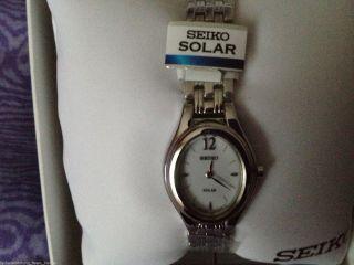 Armbanduhr Seiko Keine Batterie Nötig Solar Silberfarben,  Ovp Weihnachtsgesch Bild