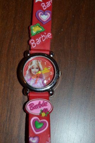 Barbie ' S Wunderschöne 3d Kinder Kautschuk Armbanduhr Bild