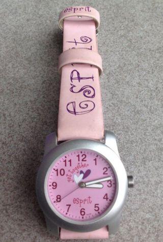 Esprit Uhr Mädchenuhr Rosa Wenig Getragen Top Bild