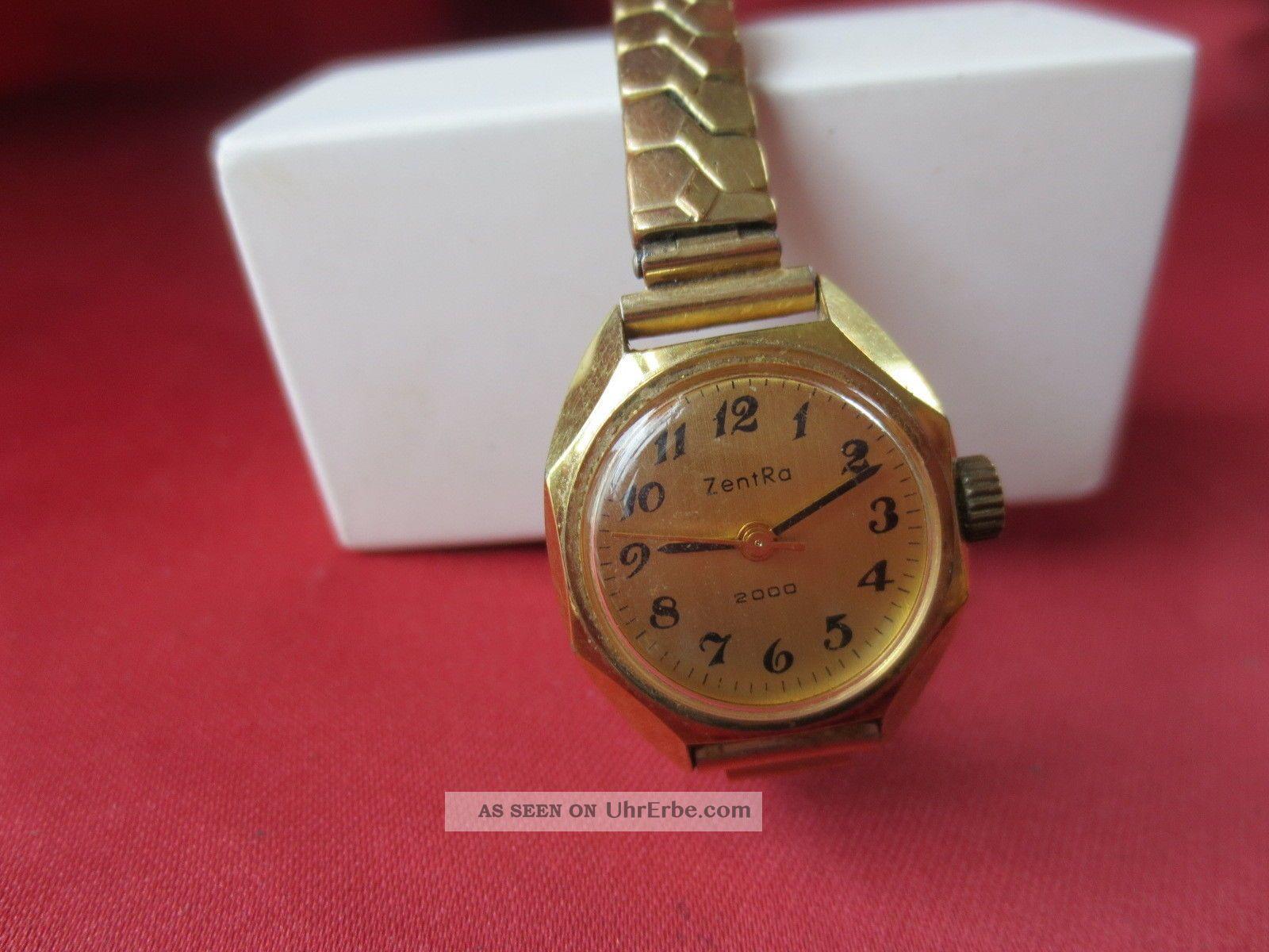 Zentra 2000 Armbanduhr - 17 Jewels - Mechanischer Handaufzug - Vintage Armbanduhren Bild