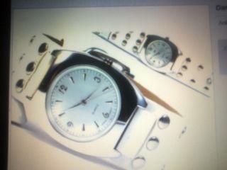 Damen Armbanduhr Retro Look Xxl Bild