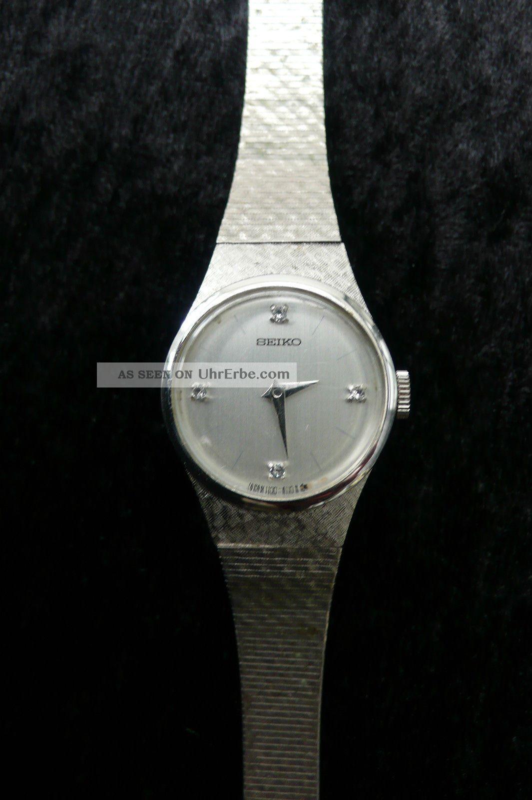 alte seiko mechanische damen uhr armbanduhr damenuhr wrist watch silberfarben. Black Bedroom Furniture Sets. Home Design Ideas