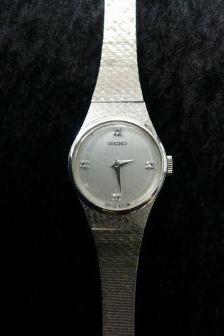 Alte Seiko Mechanische Damen Uhr Armbanduhr Damenuhr Wrist Watch Silberfarben Bild