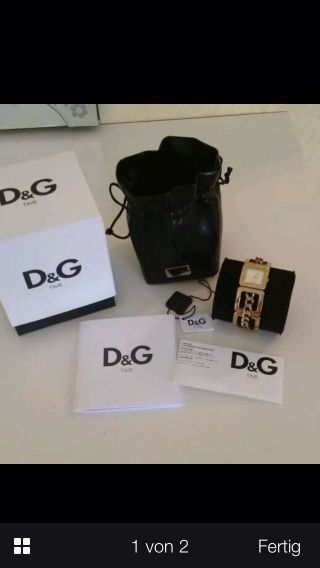 Top Orginal Dolce & Gabbana D&g Damenuhr Armband Uhr Gold Top Box Bild