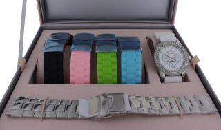 Paris Hilton Uhren Box 11687m Inkl.  5 Uhrenarmbänder Multifunktion Strasssteine Bild