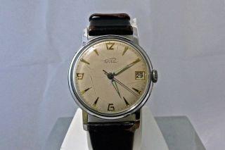 Porta Vintage Klassische Uhr Mit Handaufzug Und Datum Bild