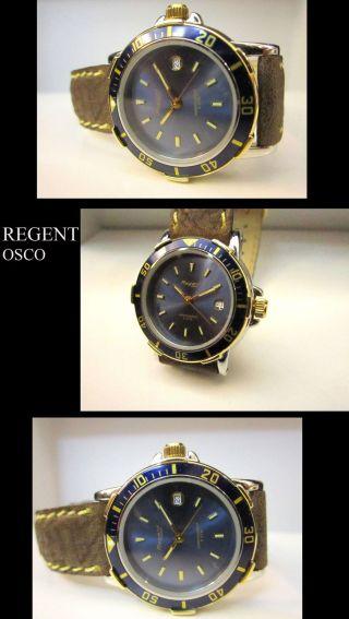 Nobel & Luxus Taucher Designer Damen Uhr Drehbare LÜnette 5 Bar Wasser Dicht Bild