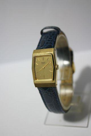 Schöne Flache Vergoldete Seiko Quartz Damenarmbanduhr Bild