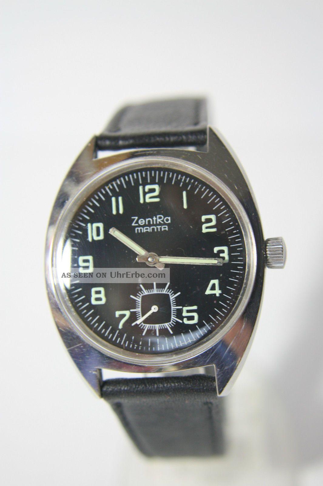 Schöne Zentra Manta Herrenarmbanduhr Kal.  Unitas 6325 Armbanduhren Bild