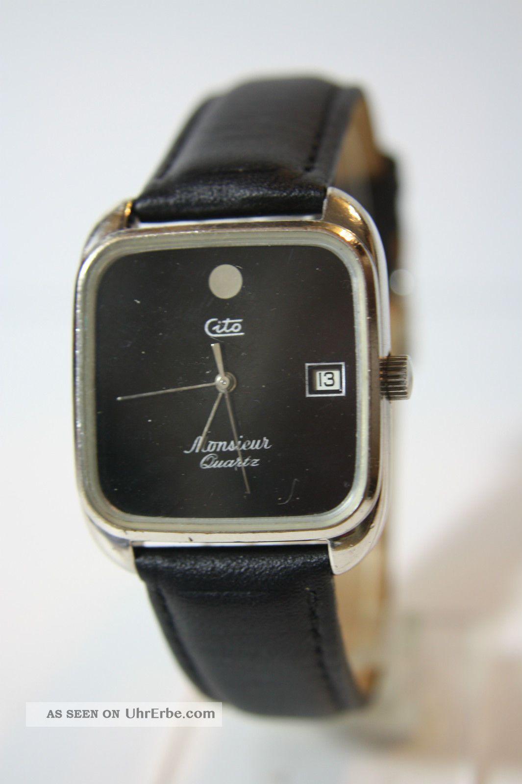 Seltenere Cito Monsieur Quartz Herrenarmbanduhr Armbanduhren Bild