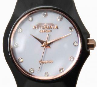 Cw,  Astroavia,  Ceramic,  Keramik,  Saphir,  Sehr Hochwertige Damen Uhr,  Schwarz Bild