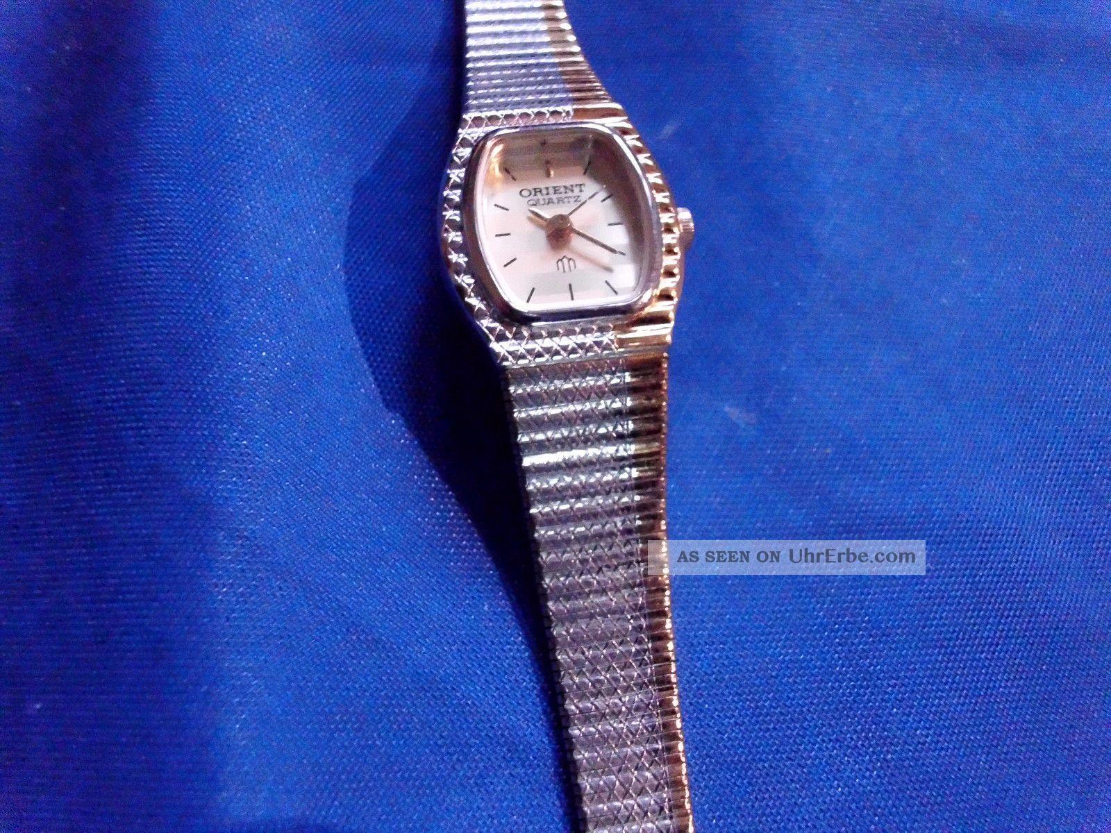 Wunderschöne Orient Damenuhr Quarz Sportlich Elegant.  An Bastler Und Liebhaber Armbanduhren Bild