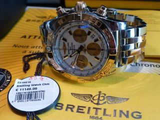 Breitling B01 Stahl/gold Chronomat 44,  Chronograph,  Automatik Bild