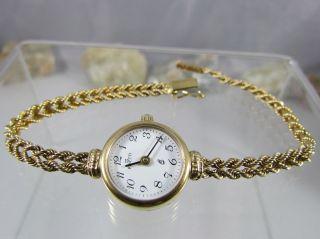 Firetti Damen Armbanduhr Quarz 375er Gold 17 Cm Lang Batterie Bild