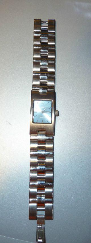 Damen - Armbanduhr - Hellblaues Ziffernblatt,  - Quarz,  - Batterie Bild