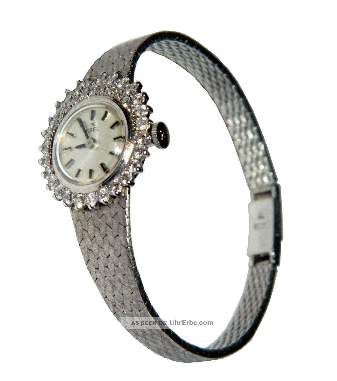 Ebel Damenuhr Uhr 750er Weißgold 18 Karat,  38 Brillianten 1,  4 Karat Nr.  54003 Armbanduhren Bild