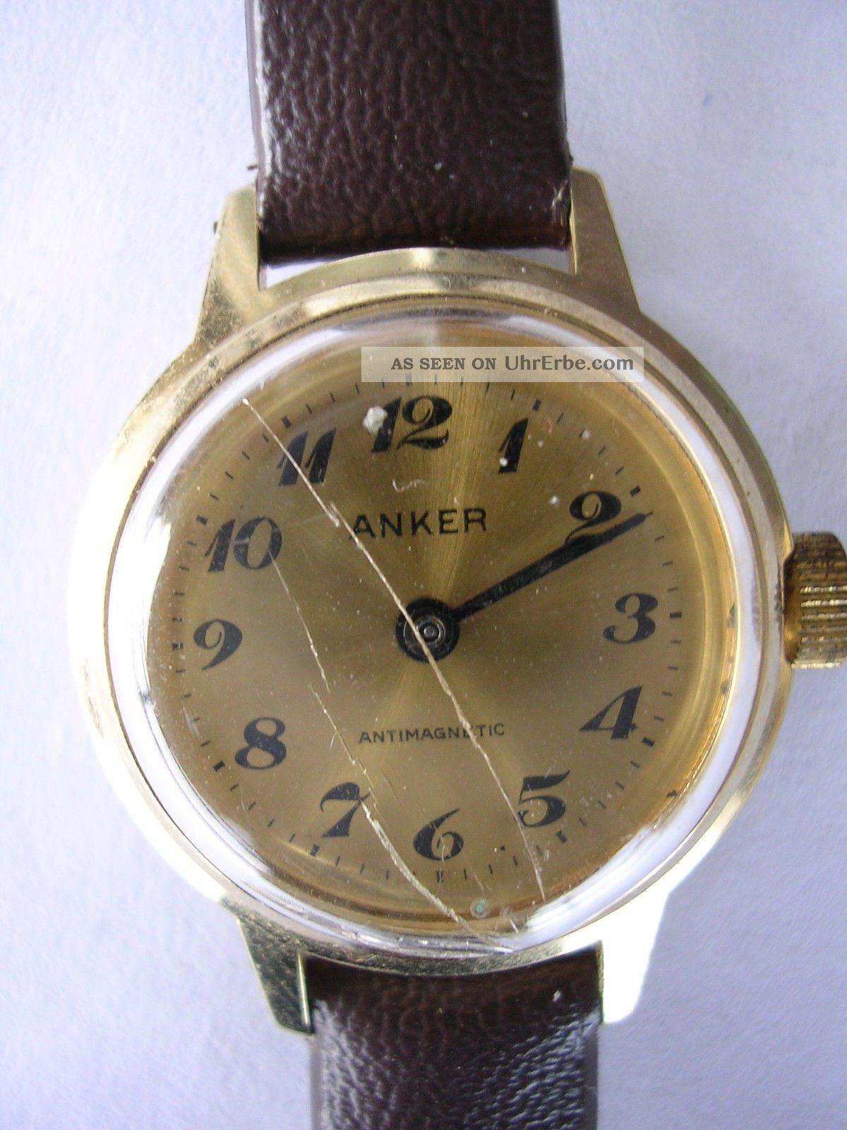 Für Sammler Handaufzug Vintage Damenruhr Anker Dau Aus Nachlass Armbanduhren Bild
