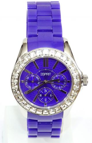 Esprit Damen - Armbanduhr Dolce Vita Analog Es105172004 Lila Violett Glitzer Bild
