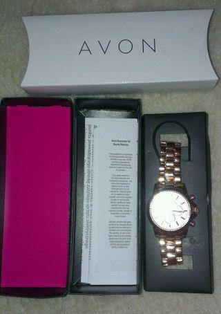 Wunderschöne Armbanduhr Von Avon,  Virginia Rose (rose ' Goldfarben), Bild
