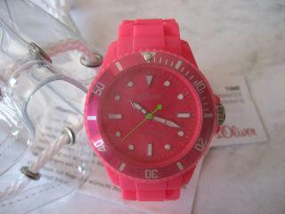 S.  Oliver Mädchen Damen Armbanduhr Uhr - Armband Silikon Pink - Und Ovp Bild