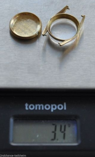 Zierliche Golduhr Damenuhr Tissot Swiss Made Gelbgold 750 Mech.  Werk Widmung Bild