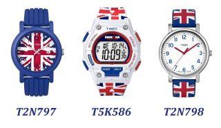 Uhr Timex Union Jack Armbanduhr Ironman Analog Digital Gb Flagge Blau Weiß Bild